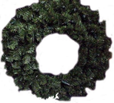 """Price comparison product image Noma / inliten-import 60090-88 24"""" Clear Light Valley Pine Wreath"""