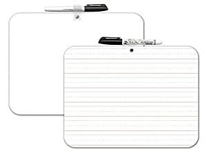 Dry Erase Lapboard Learning Board Two Sided, Double Sided, Set of 2, 9x12