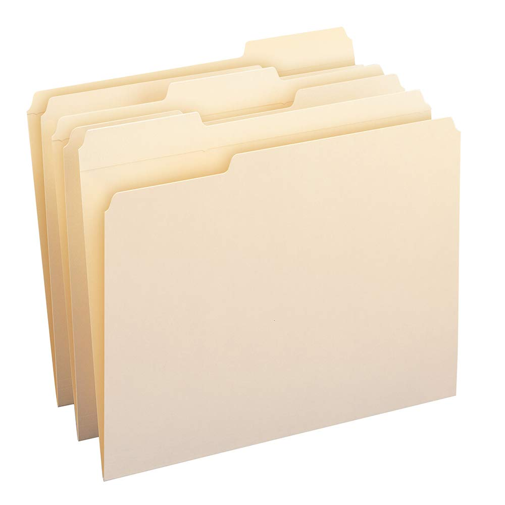 Smead File Folder, Reinforced 1/3-Cut Tab, Letter Size, Manila, 100 Per Box (10334) by Smead