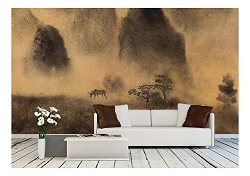 wall26 - Yellow Fog and Chinese Mountain - Removable Wall Mural | Self-Adhesive Large Wallpaper - 100x144 inches by wall26 (Image #5)