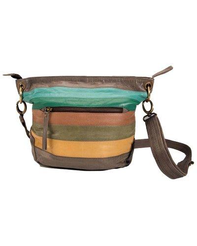 Maze - Bolso de tela de cuero para mujer multicolor Multicolor 35cm x 25cm (L x H)