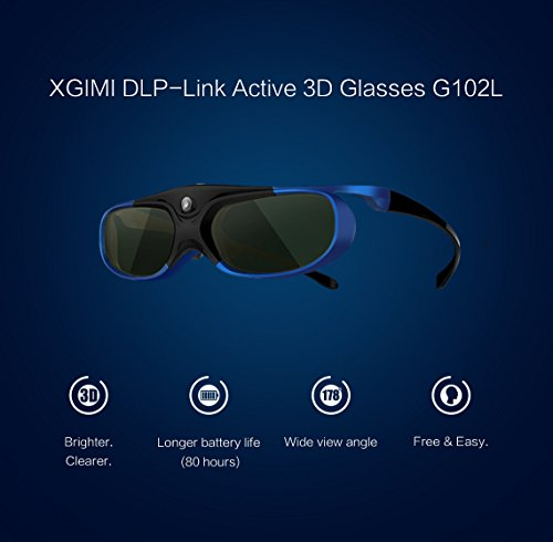 XGIMI DLP-Link Liquid Crystal Shutter Rechargeable 3D Glasses for Z4 Aurora and other DLP 3D Projector TV