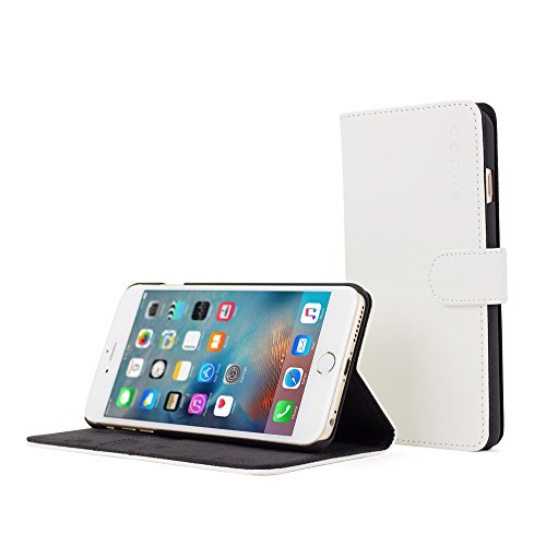 Snugg Leather Wallet iPhone White