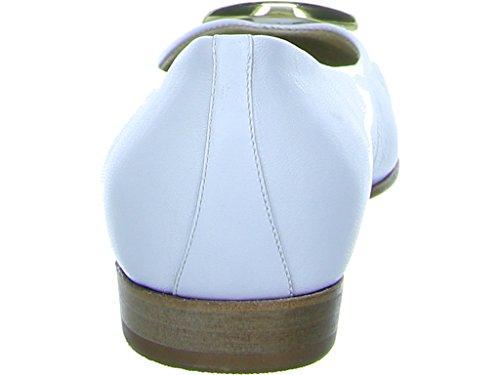 262306 Schnalle Stefy Weiß Gabriele Ballerinas Weiß 5695 Damen qxw1pYPt