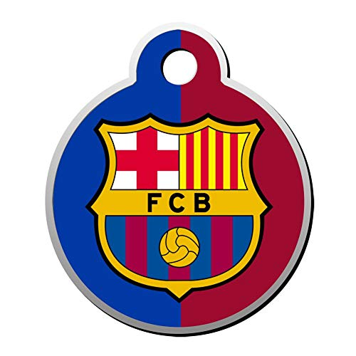 GOEMIX Barcelona FC Logo 3D Print Stainless Steel Dog Cat Tags Pet ID Label Personalized Front and Back Engraving