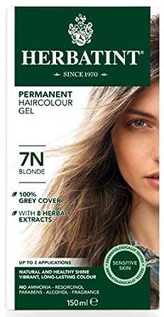 Herbatint 7 N permanente a base de plantas Rubio Haircolor Gel Kit – -3 per caso.