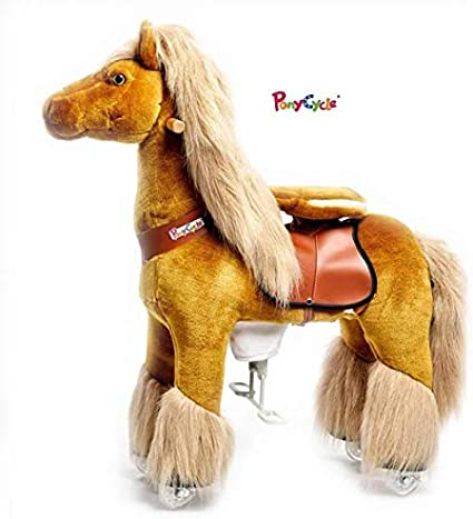 Ponycycle Pony Cycle Ride On Horse No Need Battery No Electric Just Walking Horse WHITE UNICORN Size SMALL for Children 2 to 5 Years Old by Pony