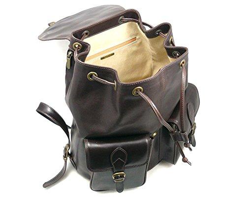 SAGEBROWN Brown Large Leather Rucksack by Sage Brown (Image #3)