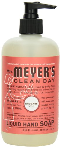 Mrs. Meyer's Clean Day Liquid Hand Soap, Rhubarb, 12.5 Fluid Ounce (Pack of 2) - Mrs Meyers Liquid Dish