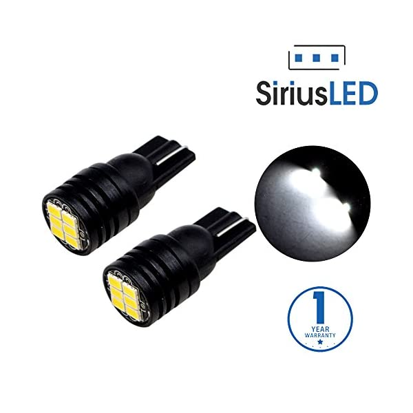 SiriusLED 400 Lumen Pure White Canbus Error Free 3020 Chip LED Festoon Bulb DE3175 6411 211 2 194 168 T10