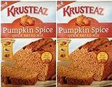 bread baking mix - Krusteaz Pumpkin Spice Quick Bread Supreme Mix (Two Pack) 15 Oz Boxes