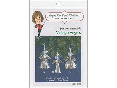 Orn Crystal (Solid Oak Kit Beaded Ornament Vintage Angels Orn)