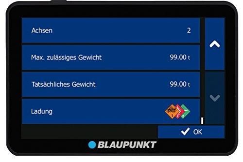 Blaupunkt TravelPilot 54 Truck EU LMU - LKW Navigationssystem mit 12,7 cm (5 Zoll) Display, Bluetooth Freisprecheinrichtung, Kartenmaterial Europa, lebenslange Karten-Updates*, TMC Stauumfahrung, Fahrspurassistent