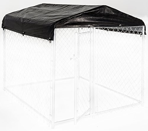 Weatherguard Dog Kennel Cover Small All Season Dog Run Cover & Roof for Lucky Dog 5ft. X 5ft. Outdoor Cages and Pens (5ft. X 5ft)