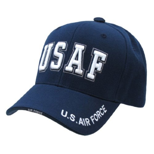 - Rapid Dom US Military Legend Branch Logo Rich Embroidered Baseball Caps S001 USAF TXT
