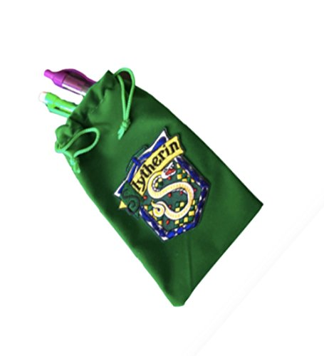 Harry Potter Slytherin green velvet pencil case with house crest