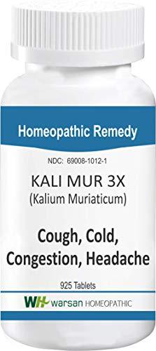 Kali MUR 3X (Kalium Muriaticum). Homeopathic Tissue Salts. 925 Tablets ()