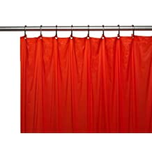 Carnation Home Fashions 3-Gauge Vinyl Shower Curtain Liner with Metal Grommets, Red