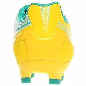 PUMA Women's Evospeed 4.2 Firm Ground Soccer Shoe,Vibrant Yellow/Spectra Green/Blue Light,9 B US