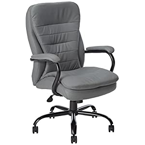 Boss Office Products Heavy Duty Double Plush LeatherPlus Chair with 350lbs Weight Capacity in Bomber Brown