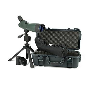 Hawke Sport Optics 51100 Vantage 20-60X60 7 Angled Spotting Scope Kit, Green and Black by Sportsman Supply Inc.