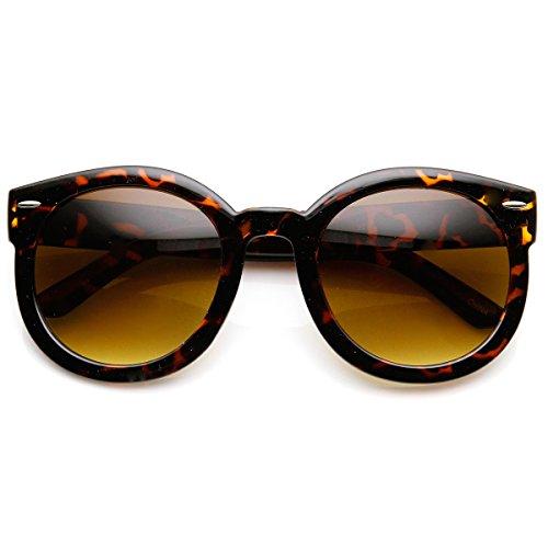 zeroUV - Womens Plastic Sunglasses Oversized Retro Style with Metal Rivets (Havana - Tyler Joseph Sunglasses