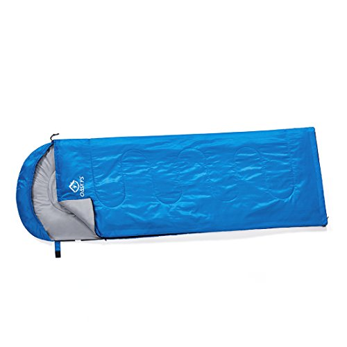 Oaskys Mummy Sleeping Bag for Traveling, Camping, Hiking and Outdoor Activities,Lightweight Portable Comfort (Blue)