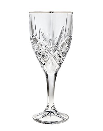 Godinger Dublin Platinum Crystal 9-ounce Goblets (Set of -