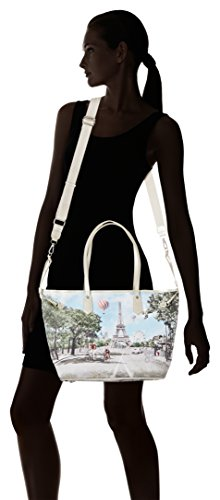 YNOT J-319, Borsa a Tracolla Donna, 16x25x45 cm (W x H x L) Multicolore (Multicolore Champs Elysees)