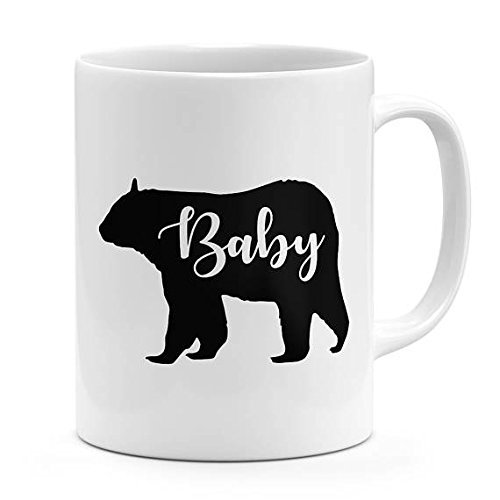 Baby bear mug gift for new born parents bear family mug ceramic coffee mug 11oz-15oz novelty mug baby gift baby nursery decor cozy bear mug