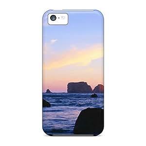 Premium Tpu Sea Stacks Cover Skin For Iphone 5c