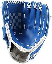 SM SunniMix Blue Baseball Glove Outdoor Sports Softball Practice Thicken PU Catcher Thwrower Equipment Size 10