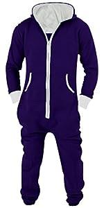 SkylineWears Men's Unisex Onesie Jumpsuit One Piece Non Footed Pajama Playsuit