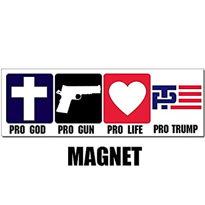 American Vinyl Magnetic Pro God - Guns - Life - Trump Magnet (Christian Patriot Conservative GOP): Automotive