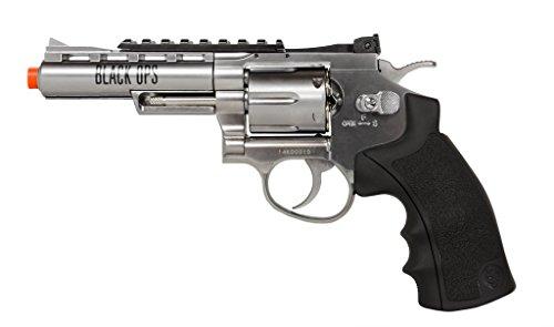 black ops exterminator full metal air revolver, 4 chrome bb(Airsoft Gun)
