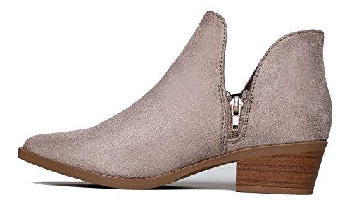ZooShoo Cute Western Cowboy Bootie - Damen Spitzschuh Ankle Boot - Reißverschluss Low Heel - Levi von J. Adams Ton Imsu