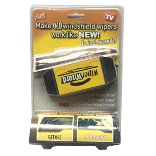 Car Wiper Cleaning Washing Brush Car Wizard Windshield Wiper Blade Cleaner Black & Yellow