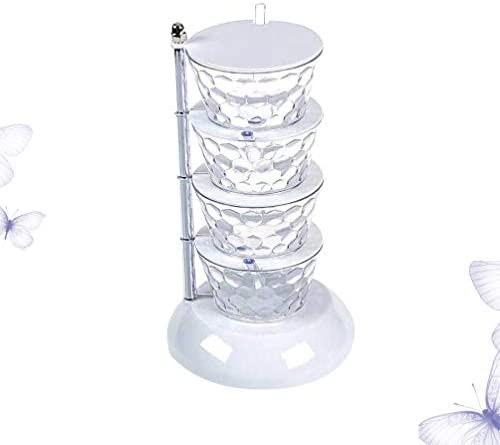 UPKOCH クリエイティブスパイスジャークリスタル回転式調味料塩コショウボックスキッチン調理用