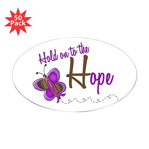 - CafePress - Hold On to Hope 1 Butterfly 2 Purple Sticker (Oval - Sticker (Oval 50 pk)