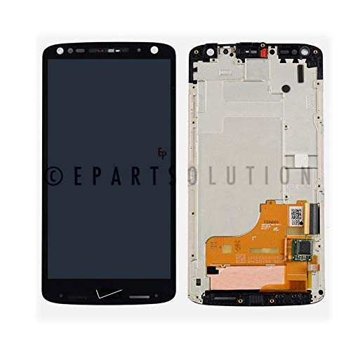 ePartSolution_Replacement Part for Motorola Droid Turbo 2 XT1585 LCD Display Touch Screen Digitizer Glass + Frame Assembly Black USA -  500-554-146