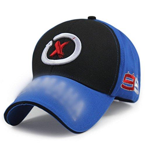 Adjustable Baseball Hat Peaked Cap (Black)