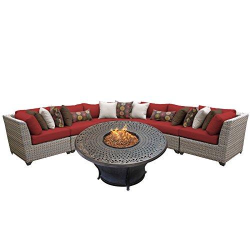 - TK Classics FLORENCE-06l-TERRACOTTA 6 Piece Outdoor Wicker Patio Furniture Set, Terracotta