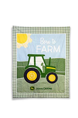 John Deere Tractor Baby Quilt, Born to Farm, Crib ()