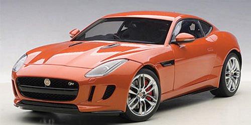 Jaguar F-Type R Coupe, metallic dark orange, RHD, 2015, Model Car, Ready-made, AutoArt 1:18