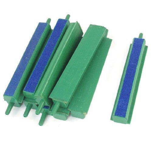 """10 piezas de peces de acuario tanque de burbujas de aire de lanzamiento Difusor Bar 3.9 """"Verde Azul"""