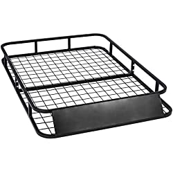MPH Production Universal Roof Rack for Truck (Cargo Car Top Luggage Carrier Basket Traveling SUV Holder) (RB-43-ST)