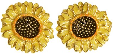 (Sunflower Earrings, from Our Museum Jewelry Reproductions)