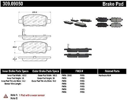 StopTech 300.13990 Premium Brake Pad