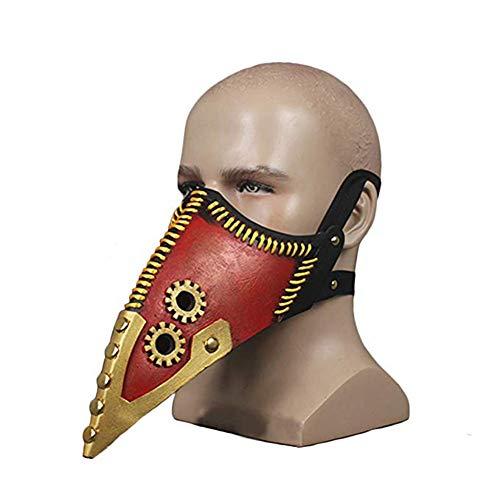 Xmecos My Hero Academia Overhaul Mask Plague Doctor Cosplay Props Steampunk Bird Mask -