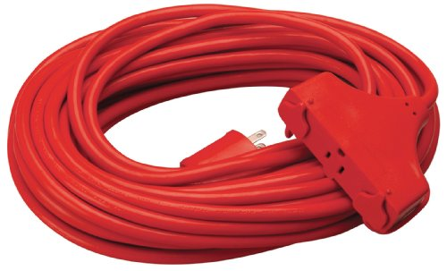 100ft 3 Outlet Extension Cord - 7